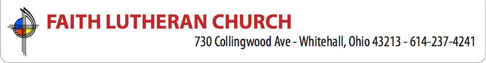 Faith Lutheran Church Header Image